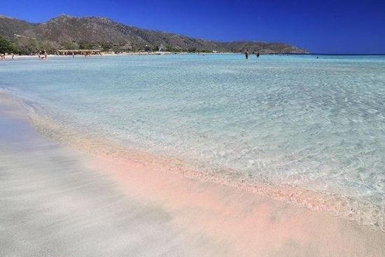克里特岛的粉红海滩