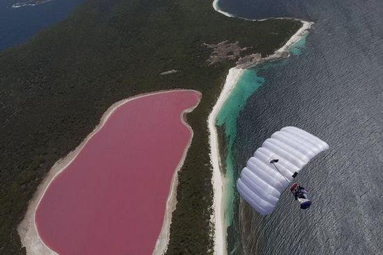 澳大利亚西部的希利尔湖