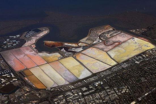 美国旧金山红木城的盐池